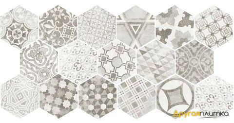 Hexatile Cement Garden Grey 17.5*20